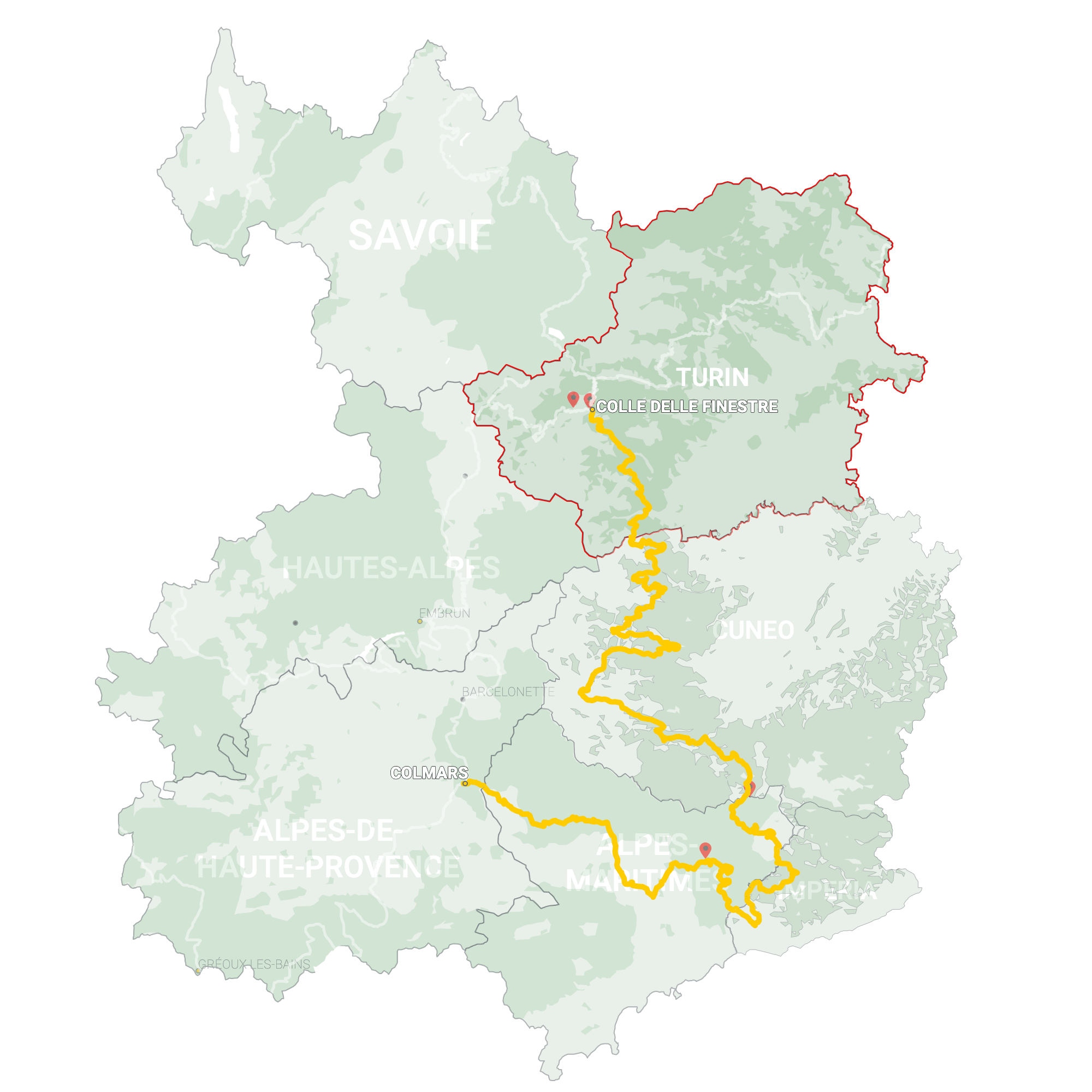 GLR 9 Region Turin Map Overview