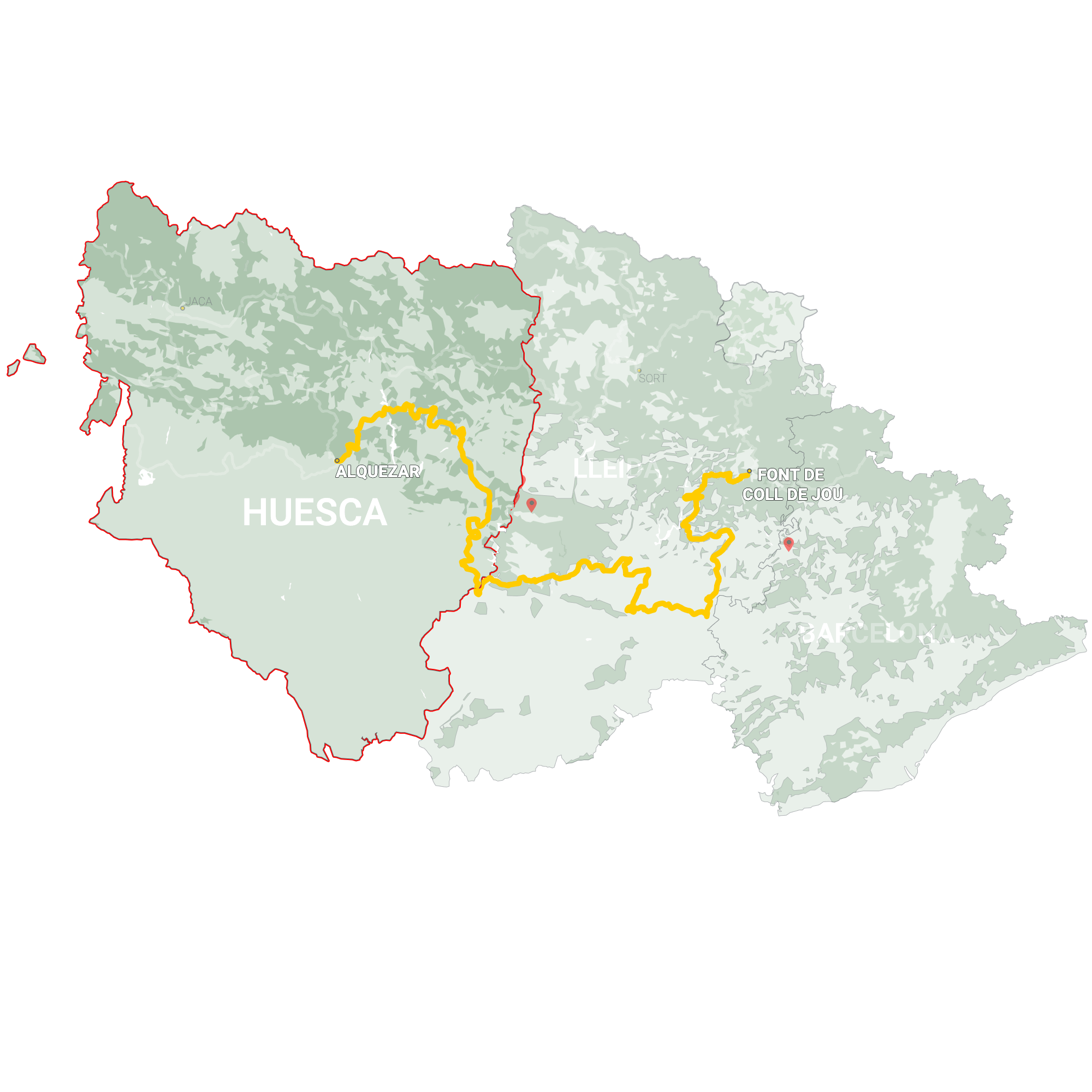 GLR 23 Region Huesca Map Overview