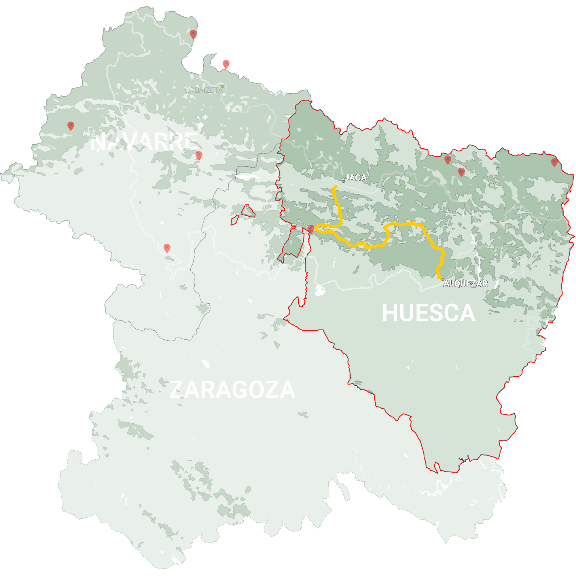 GLR 24 Region Huesca Map Overview