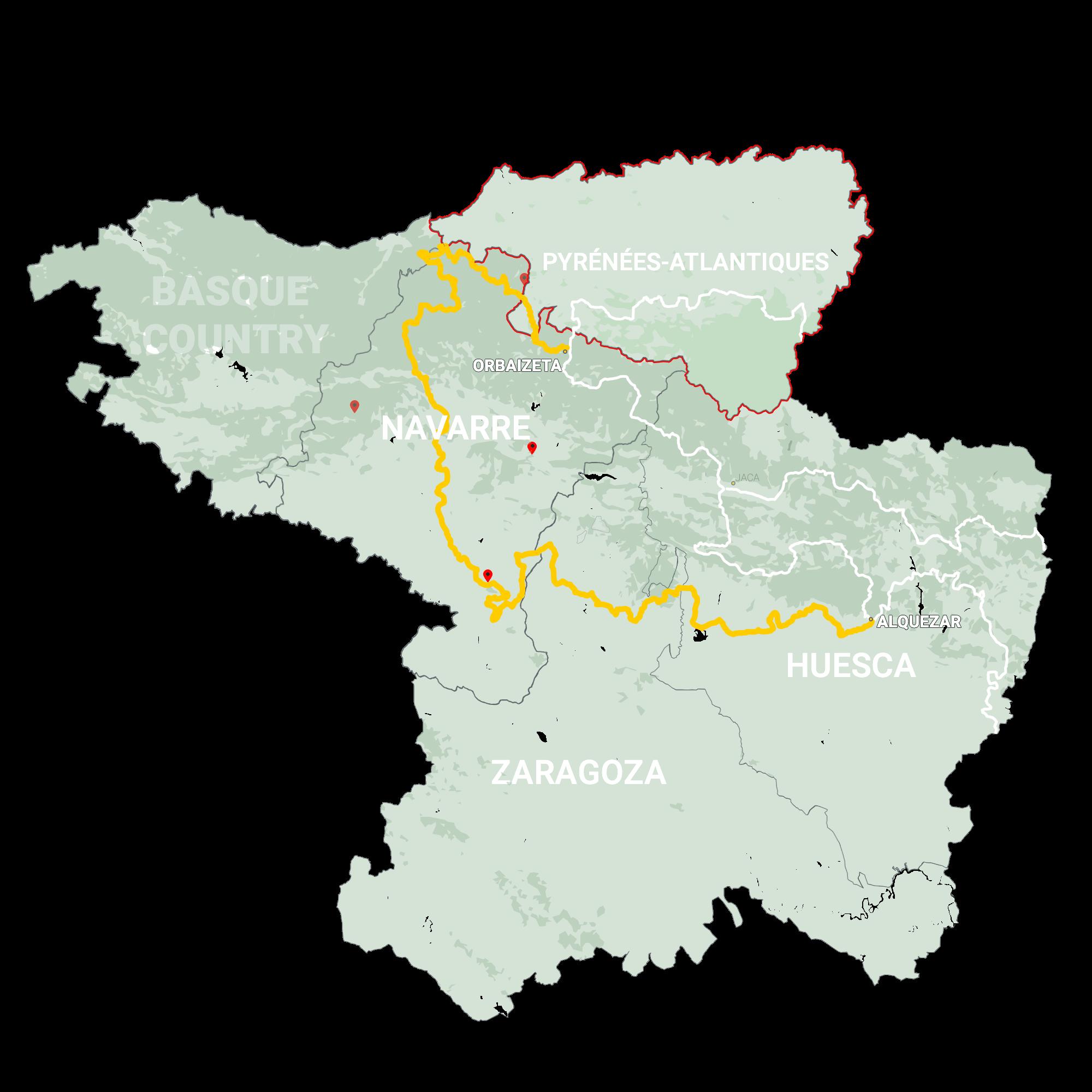 GLR 25 Region Pyrénées-Atlantiques Map Overview