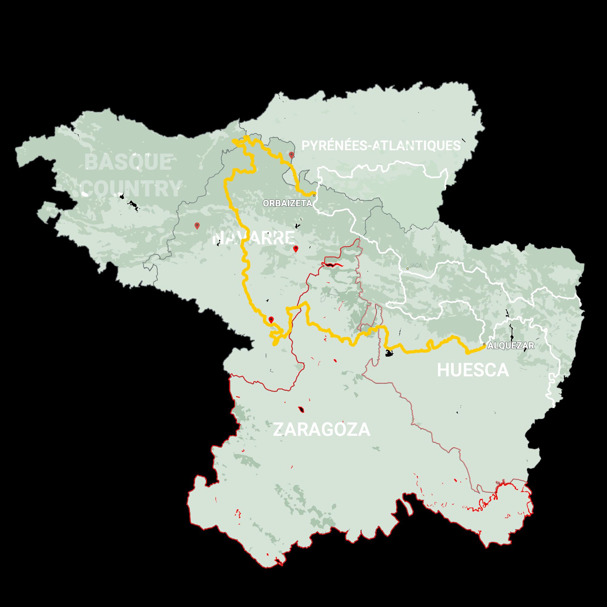 GLR 25 Region Zaragosa Map Overview