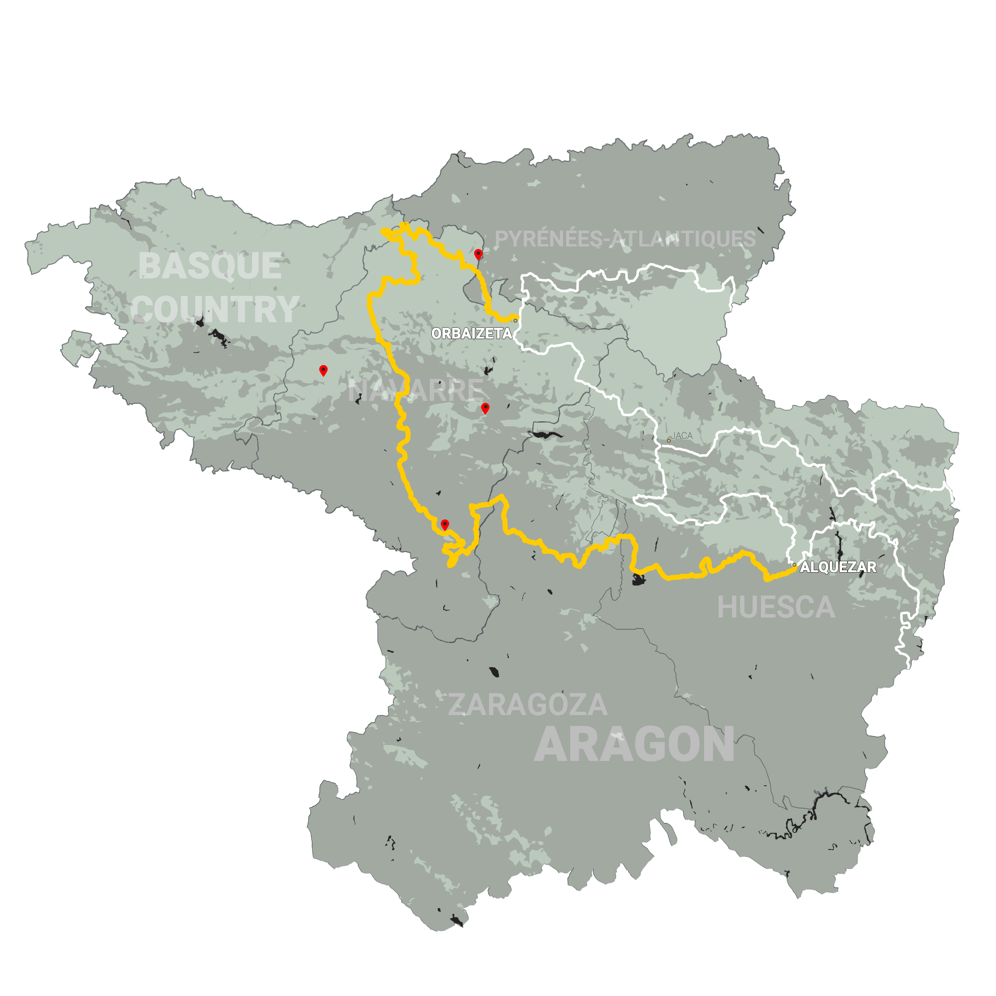 GLR 25 Route Info Map Overview