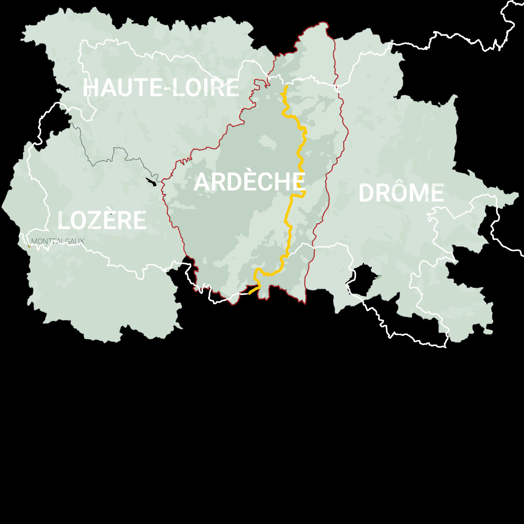 GLR 27 Region Ardèche Map Overview