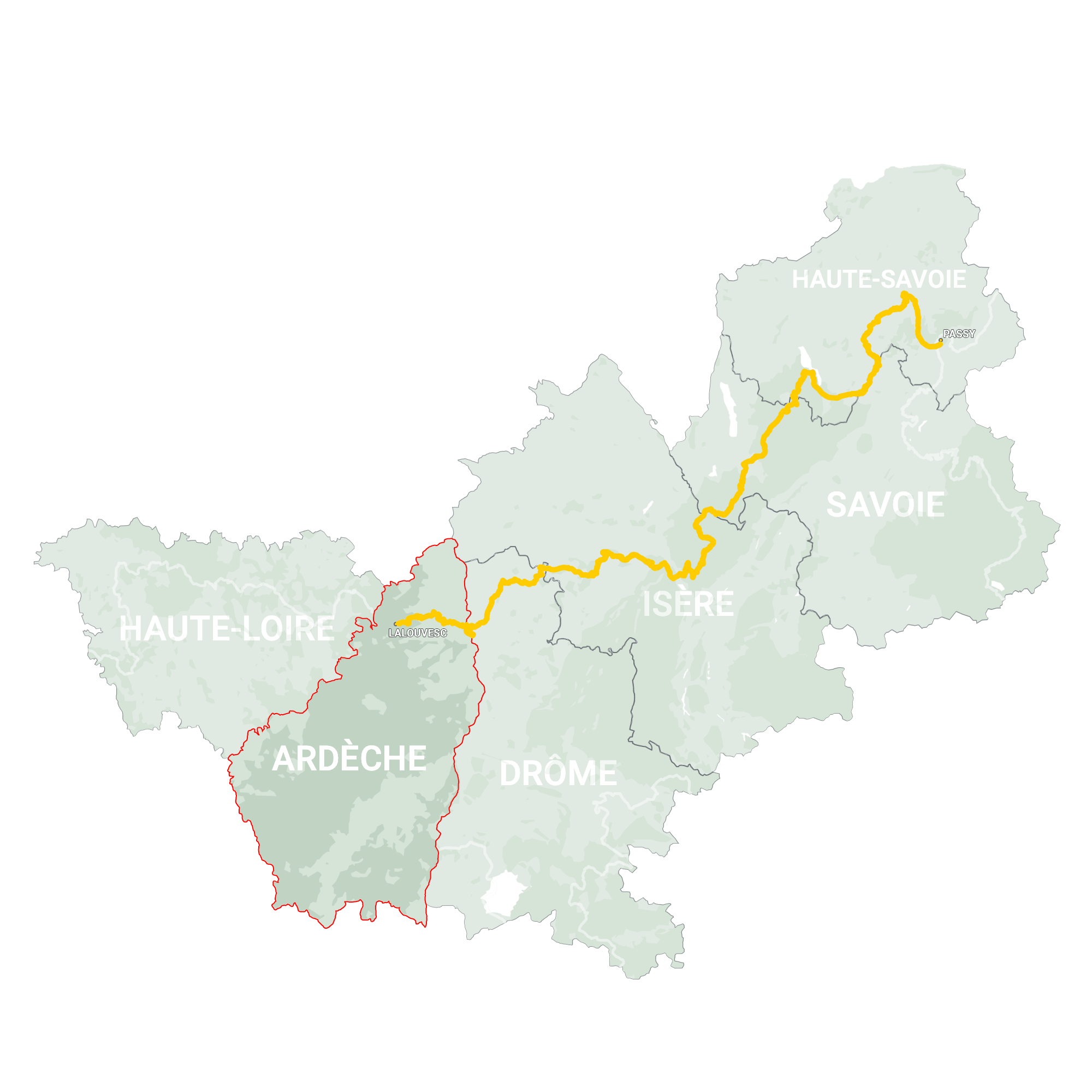 GLR 28 Region Ardèche Map Overview