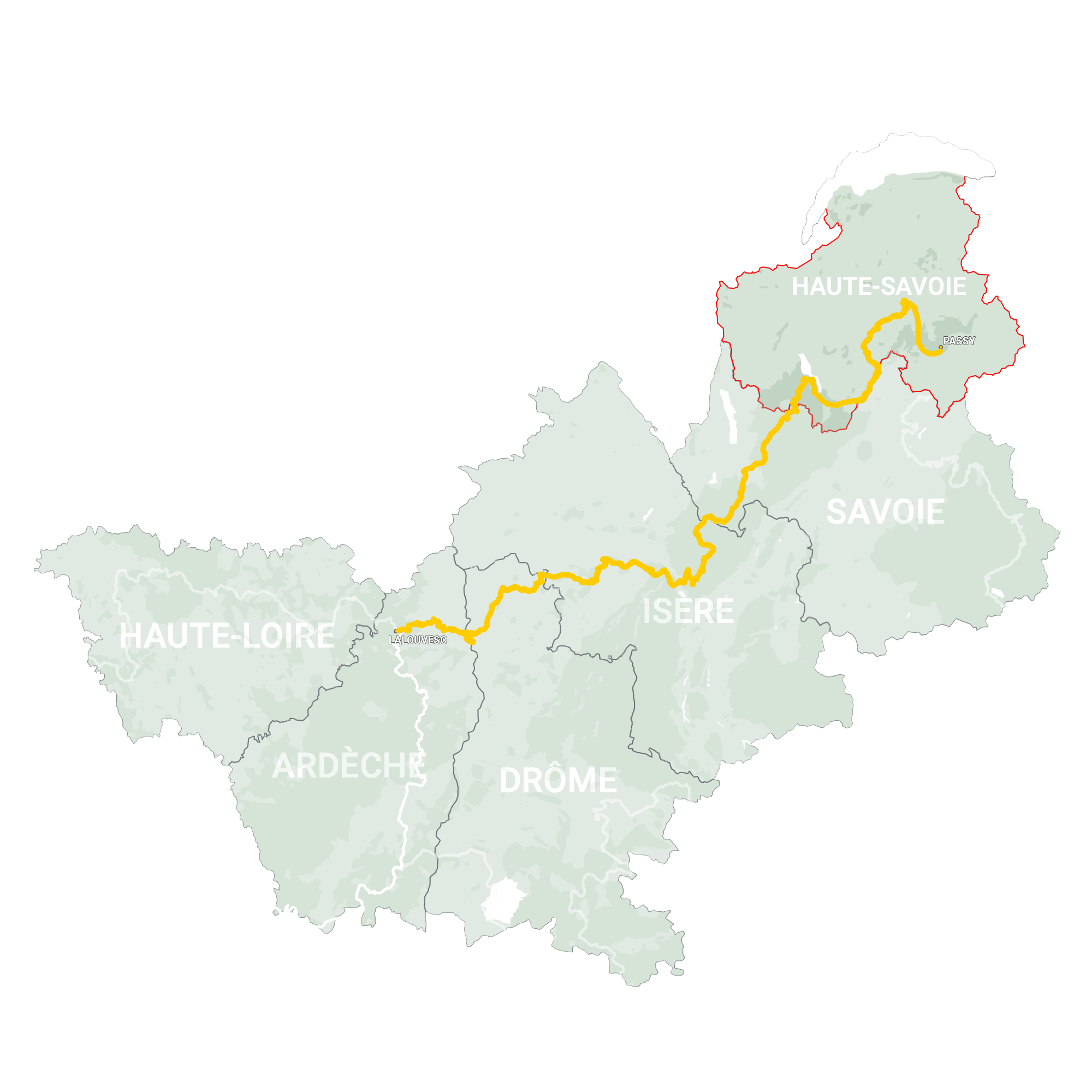 GLR 28 Region Haute-Savoie Map Overview