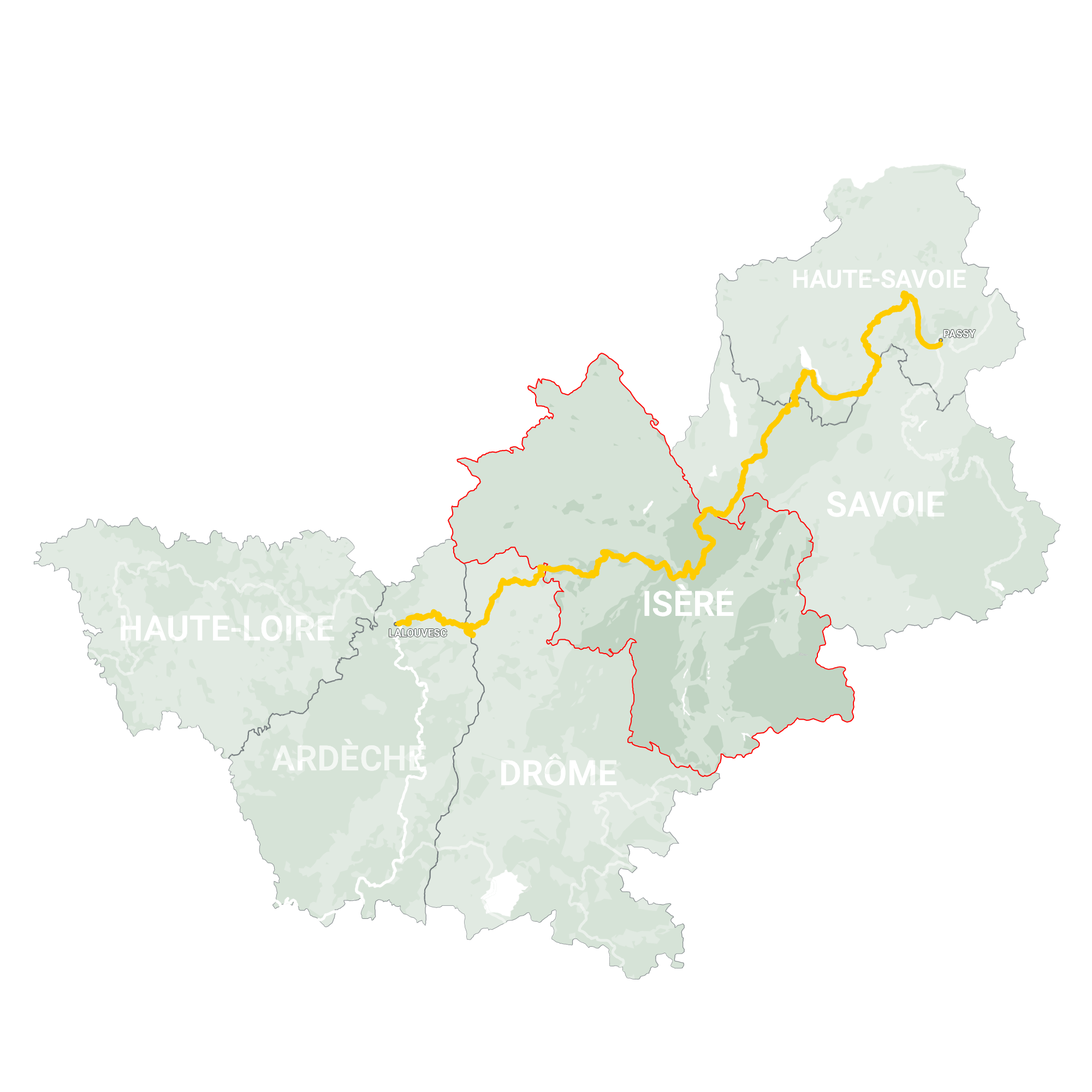 GLR 28 Region Isère Map Overview