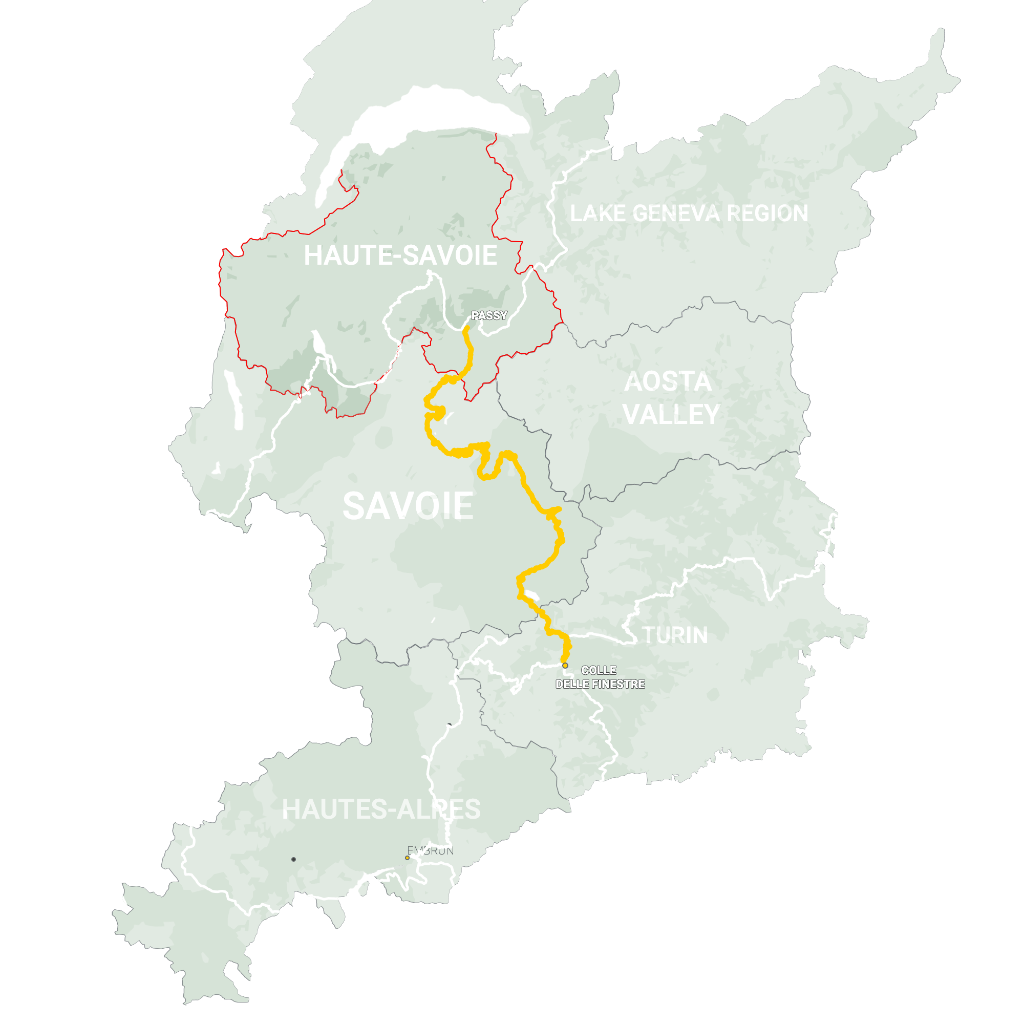 GLR 29 Region Haute-Savoie Map Overview