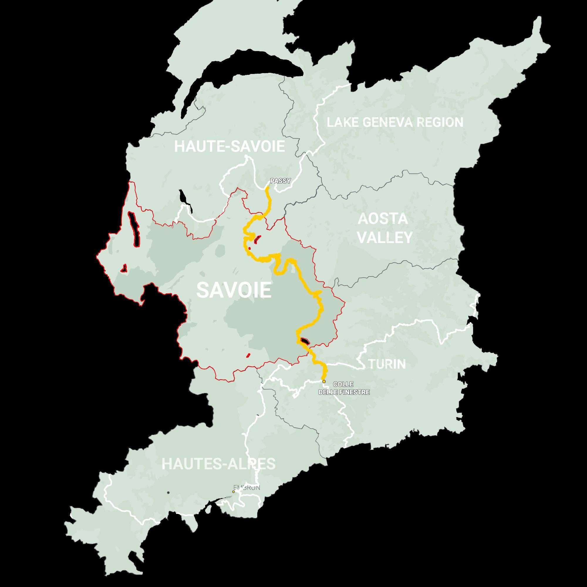 GLR 29 Region Savoie Map Overview