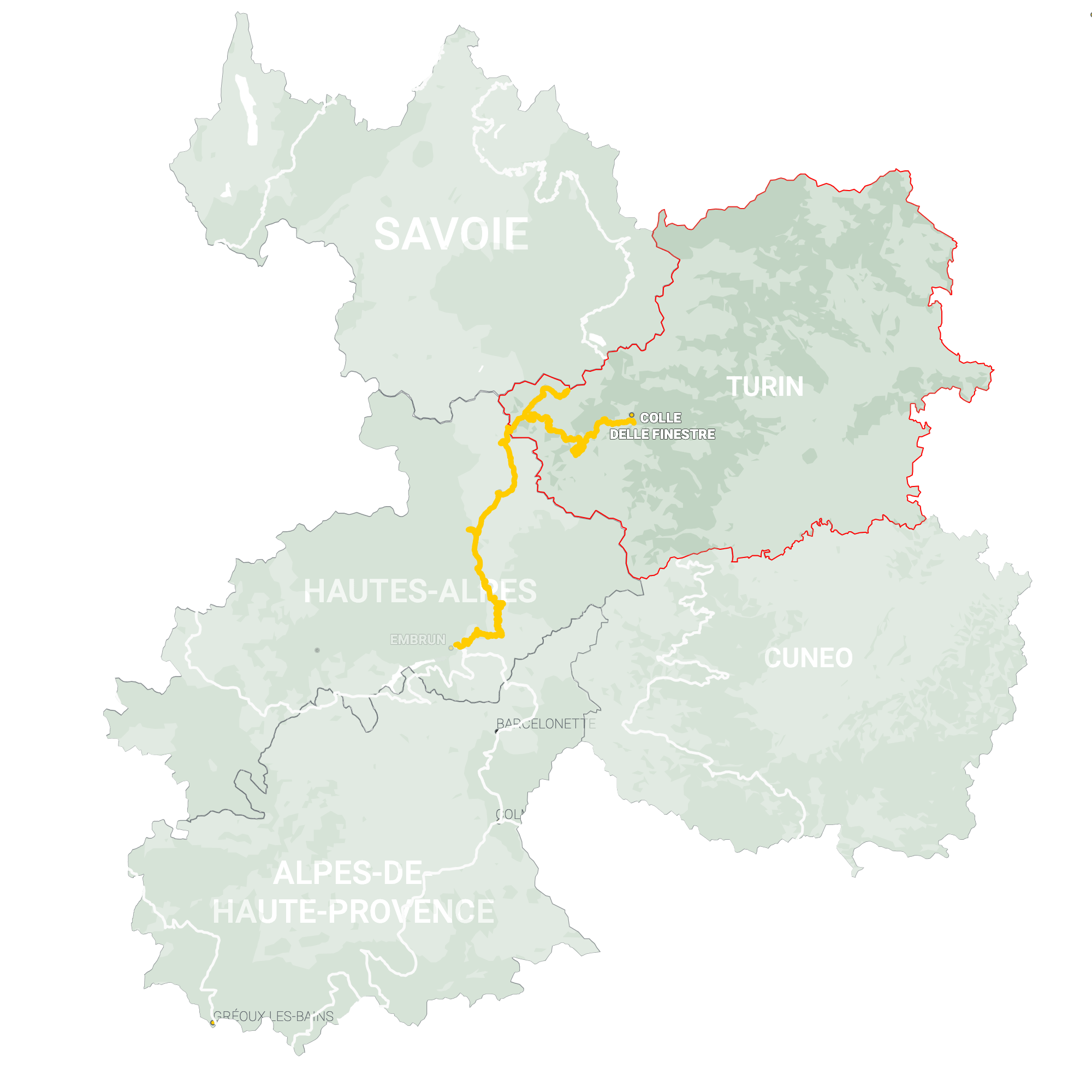 GLR 30 Region Turin Map Overview