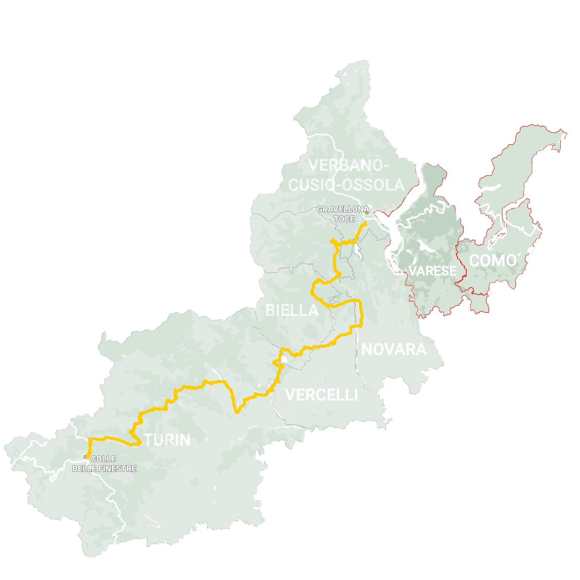 GLR 31 Region Lombardy Map Overview