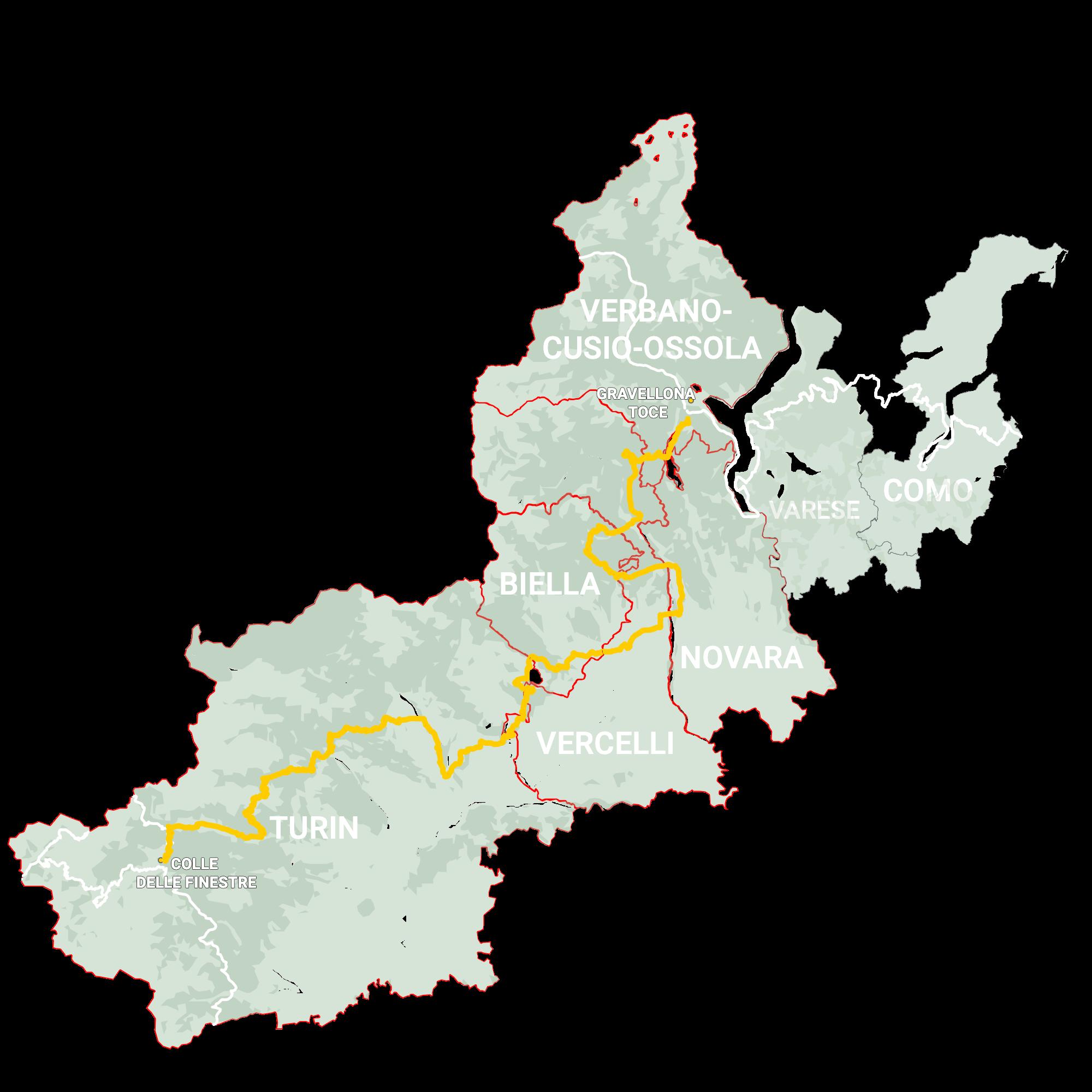GLR 31 Region Piedmont Map Overview