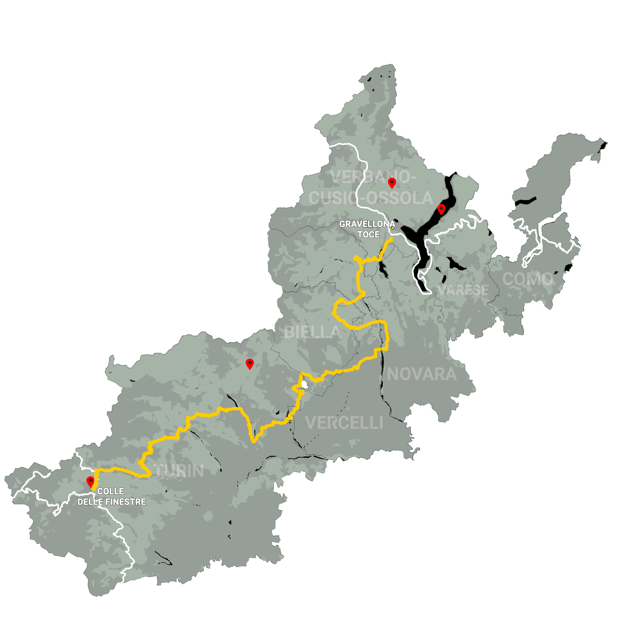 GLR 31 Route Info Map Overview